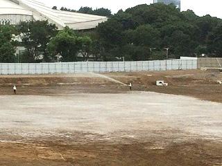 レヂテックス開発事例(4) 工事現場での砂ぼこり・土埃抑制